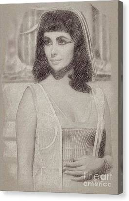 Elizabeth Taylor Hollywood Actress Canvas Print by Frank Falcon