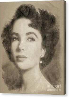 Elizabeth Taylor Hollywood Actress Canvas Print