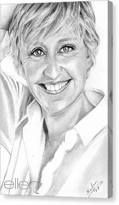 Ellen Degeneres Canvas Print by Shafina Noor
