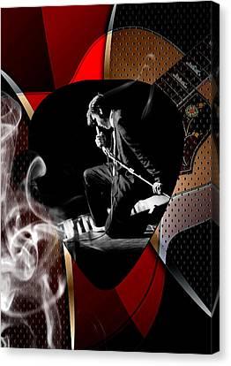 Elvis Presley Art Canvas Print by Marvin Blaine