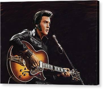 Elvis Presley Canvas Print by Dominique Amendola