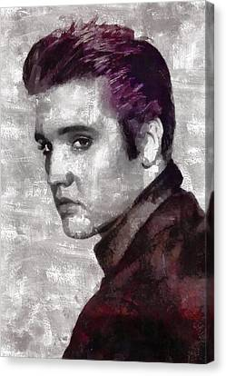 Thriller Canvas Print - Elvis Presley by Mary Bassett