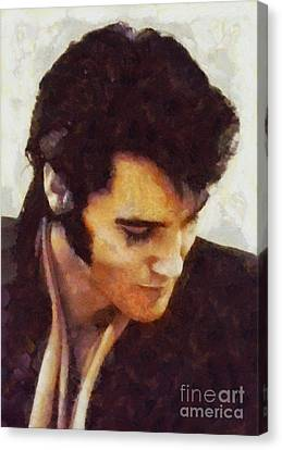 Elvis Presley, Music Legend Canvas Print by Sarah Kirk