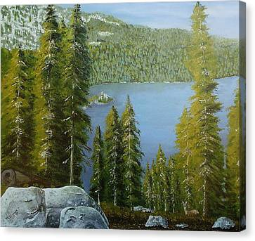 Emerald Bay - Lake Tahoe Canvas Print by Mike Caitham