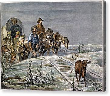 Emigrants, 1874 Canvas Print by Granger