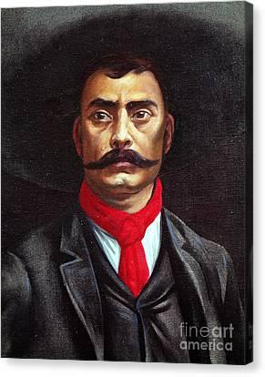 Emiliano Zapata Canvas Print by Mexican School