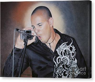 Emilio Singing His Heart Out Canvas Print by Nanybel Salazar