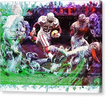 Emmitt Smith Dallas Cowboys Digital Painting  Canvas Print by David Haskett