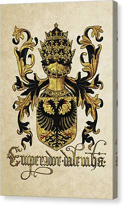 Emperor Of Germany Coat Of Arms - Livro Do Armeiro-mor Canvas Print by Serge Averbukh