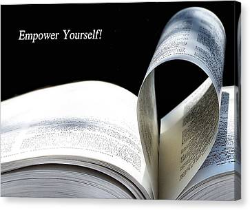Empower Yourself Canvas Print by Karen Scovill
