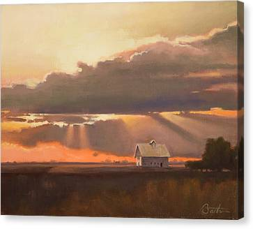 End Of Day Canvas Print by Todd Baxter