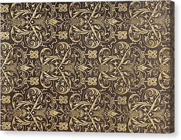 End Paper From A 19th Century Book Canvas Print by Vintage Design Pics