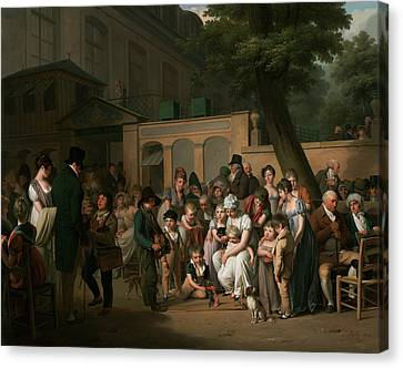 Entrance To The Jardin Turc Canvas Print by Louis-Leopold Boilly