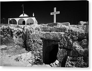 Entrance To The Underground Old Church At Ayia Thekla Republic Of Cyprus Europe Canvas Print