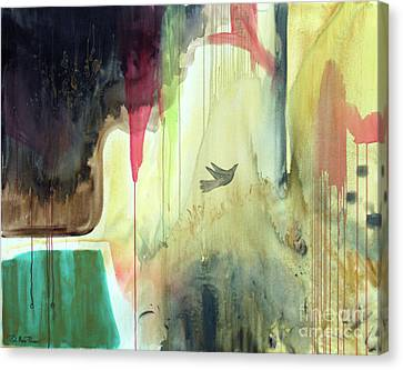Canvas Print featuring the painting Envisage by Robin Maria Pedrero