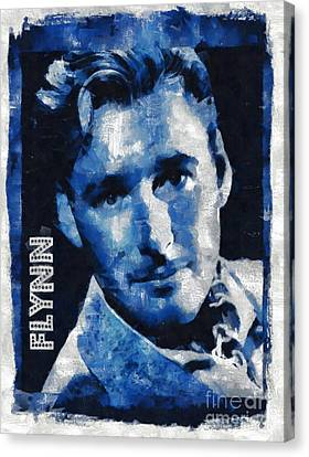 Errol Flynn Vintage Hollywood Actor Canvas Print by Mary Bassett