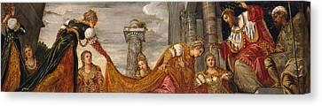 Xerxes Canvas Print - Esther And Ahasuerus by Tintoretto