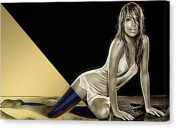Eva Longoria Collection Canvas Print by Marvin Blaine