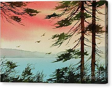 Canvas Print featuring the painting Evening Light by James Williamson