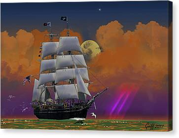 Evening Return For The Elissa Canvas Print by J Griff Griffin