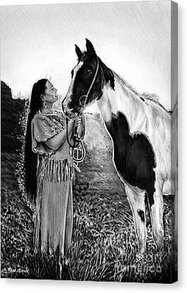 Everlasting Love A Maiden And Spot Canvas Print by Andrew Read