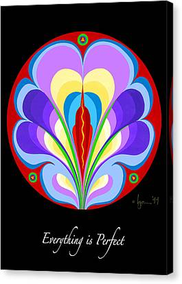 Survivor Art Canvas Print - Everything Is Perfect by Angela Treat Lyon