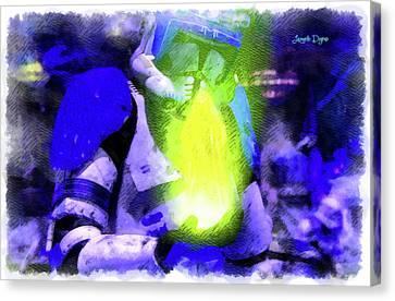 Execute Order 66 Blue Team Commander - Cartoonized Style Canvas Print by Leonardo Digenio