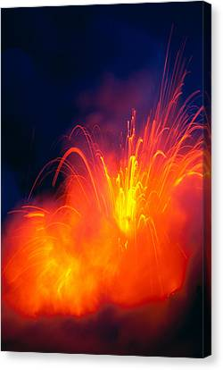 Exploding Lava Canvas Print by Greg Vaughn - Printscapes