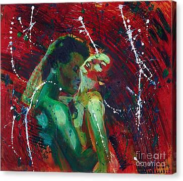 Explosion Of The Elements  3 Canvas Print by Jolanta Shiloni