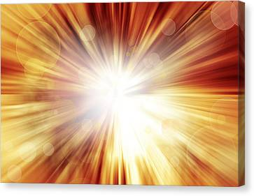 Explosive Background  Canvas Print by Les Cunliffe