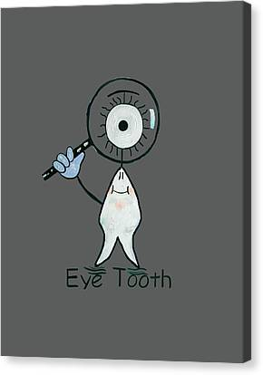 Print On Canvas Print - Eye Tooth by Anthony Falbo