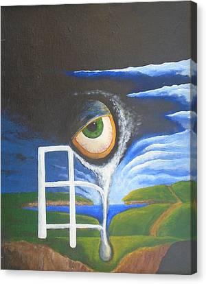 Eyefence Canvas Print by Steve  Hester