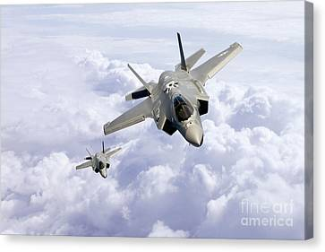 F35 Lightning II Canvas Print by J Biggadike
