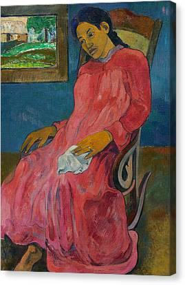 Faaturuma  Canvas Print by Paul Gauguin