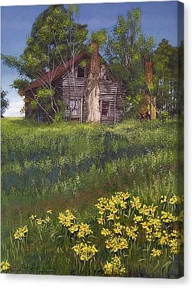 Fairplay Farmhouse Canvas Print by Peter Muzyka