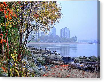 Fall At Stanley Park Canvas Print by Dale Stillman