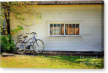 Canvas Print featuring the photograph Fall Bicycle Of Laramie by Craig J Satterlee