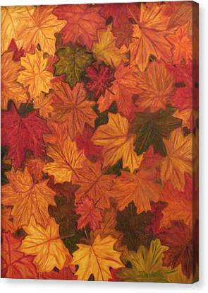 Fall Has Fallen Canvas Print by Shiana Canatella