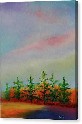 Canvas Print featuring the painting Fall Is Coming by Karin Eisermann