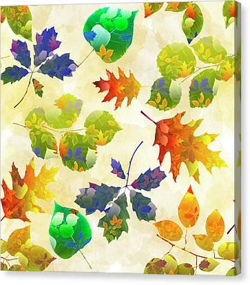 Fall Leaf Pattern Canvas Print