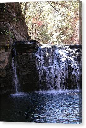 Falls At Richland Creek Canvas Print by Steve Grisham