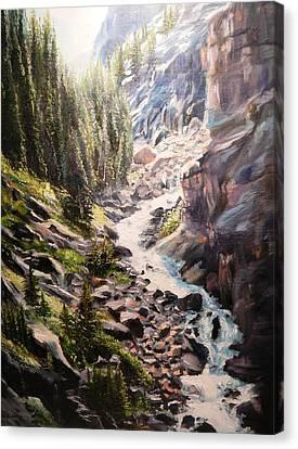 Falls Below Rimrock Lake Canvas Print