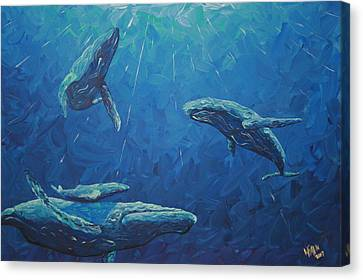 Family Canvas Print by Nick Flavin