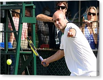 Famous Forehand Canvas Print by Anne Babineau