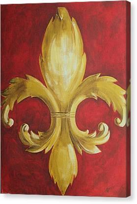 Fancy Fluer De Lis Canvas Print by Dana Redfern
