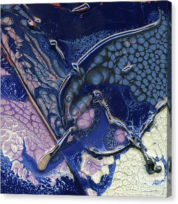Fantasy Sigil On Open Waters Canvas Print by Terry McConnell