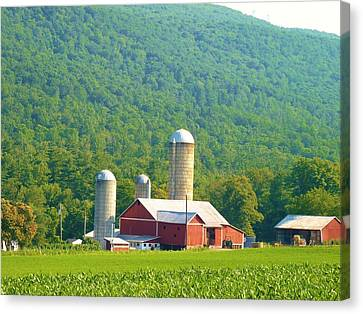 Farm In Belleville Pa Canvas Print