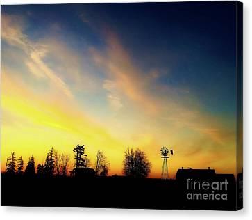 Farmers Sunset Canvas Print