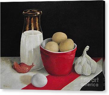 Farmhouse Eggs Canvas Print