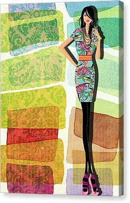 Fashion Illustration Canvas Print by Ramneek Narang